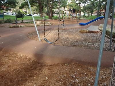 softfall rubber under slide with softfall mulch