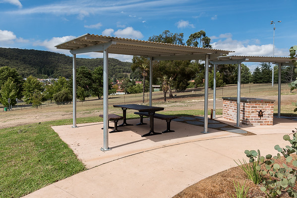 picnic shelter and bbq