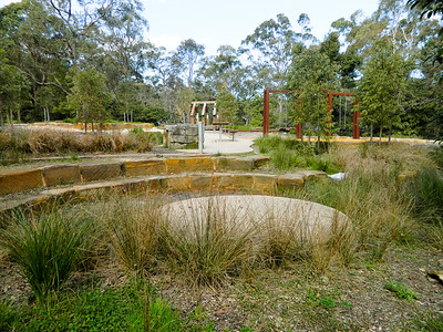 sandstone block amphitheatre