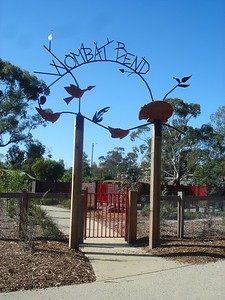 wombat bend gateway and artwork