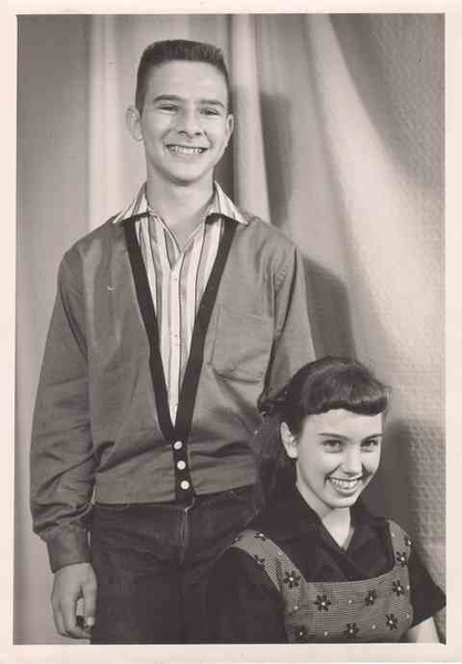Junior High - About 1958 - Cutest Girl and Boy (Well, half of that is true)
