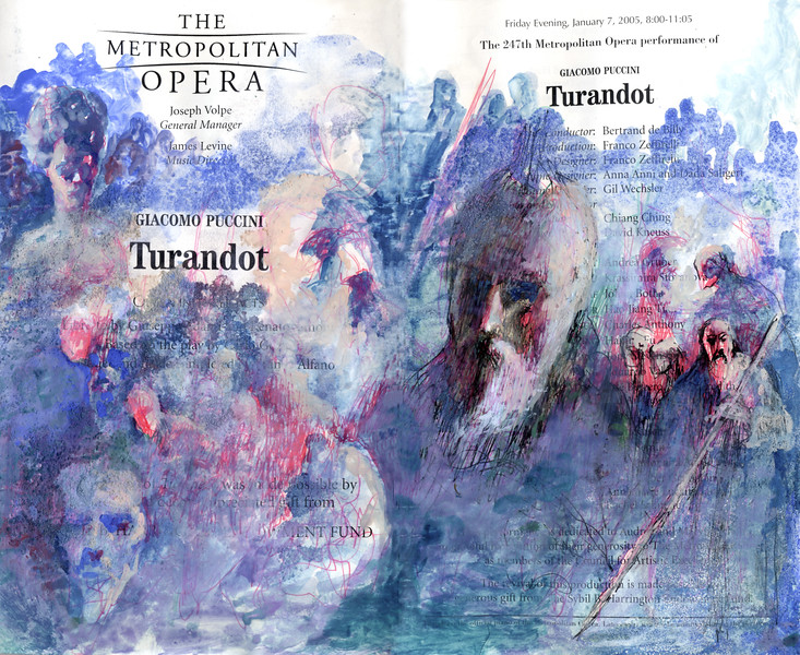 Irv Docktor Met Playbill Turandot