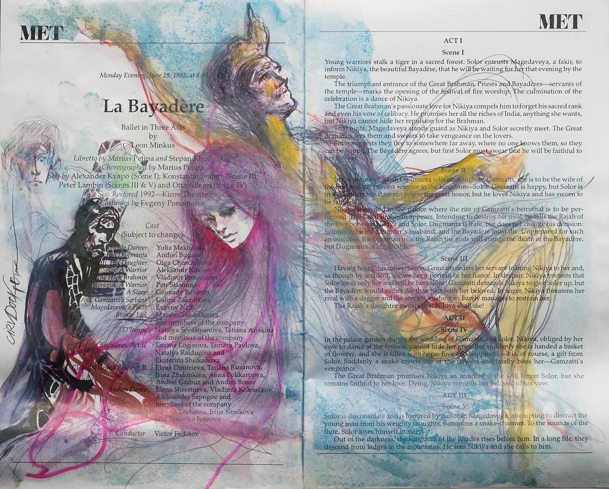 Irv Docktor Met Playbill La Bayadere