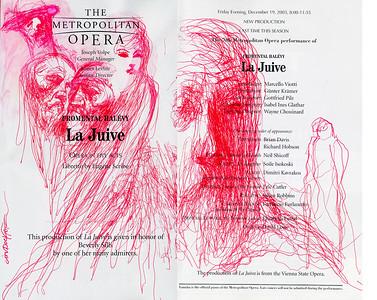 Irv Docktor Met Playbill La Juive