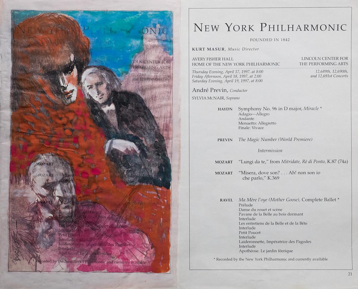 Irv Docktor Philharmonic Playbill 4 17 97