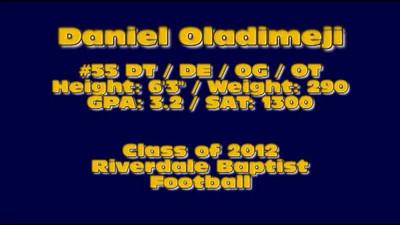 Daniel Oladimeji Class of 2012