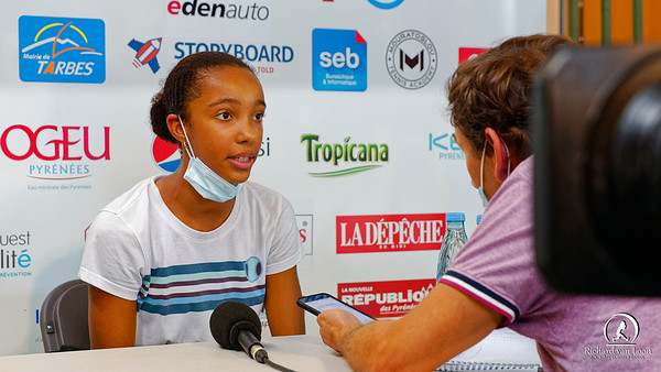01 01d Mathilde Ngijol Carre gives interview - Les Petits As 2021