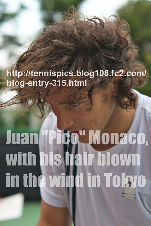 "Juan ""Pico"" Monaco, with his hair blown in the wind in Tokyo<br /> <a href=""http://tennispics.blog108.fc2.com/blog-entry-315.html"">http://tennispics.blog108.fc2.com/blog-entry-315.html</a>"