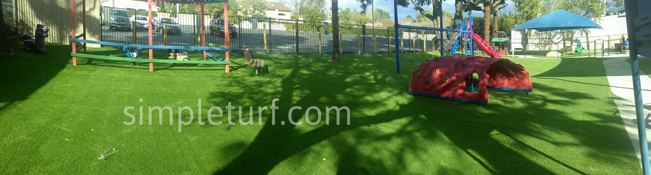 Playground after installation of SimpleTurf Artificial Grass