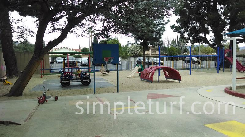 Playground before