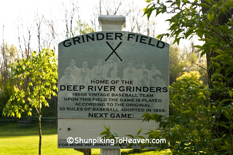 Sign for Grinder Field, Lake County, Indiana