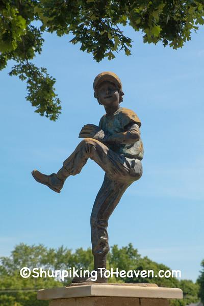 Baseball Pitcher Statue, Jefferson County, Wisconsin