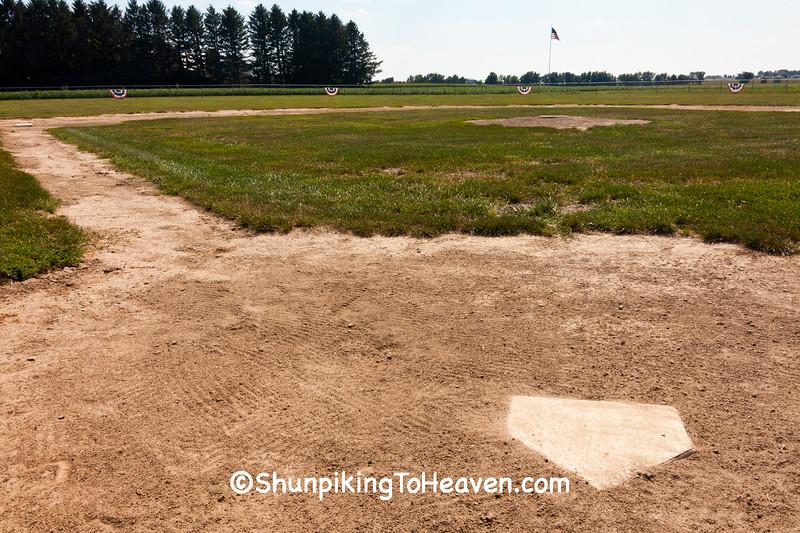 Home Plate, Krebs Field, Dane County, Wisconsin
