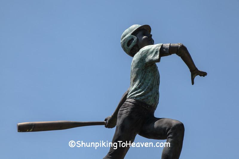 Baseball Batter Statue, Jefferson County, Wisconsin
