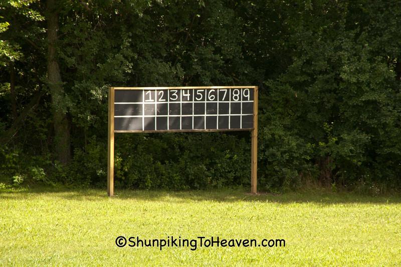 Old-Fashioned Baseball Scoreboard, Waukesha County, Wisconsin