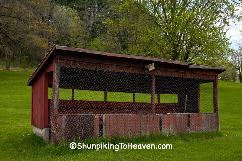 Old Baseball Dugout, Iowa County, Wisconsin