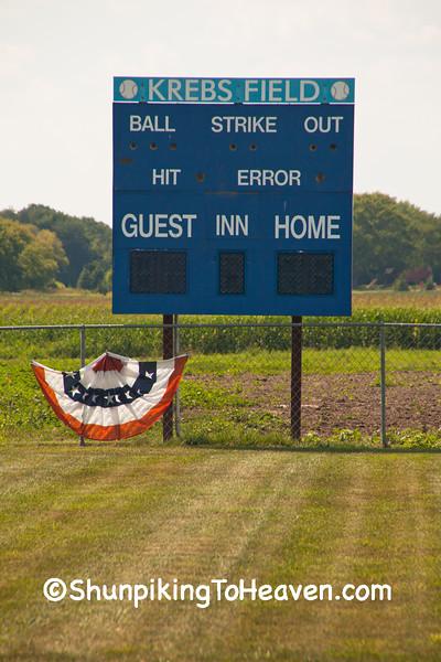 Scoreboard, Krebs Field, Dane County, Wisconsin