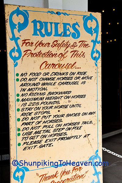Rules for Riding the C. W. Parker Carousel, Waterloo, Wisconsin