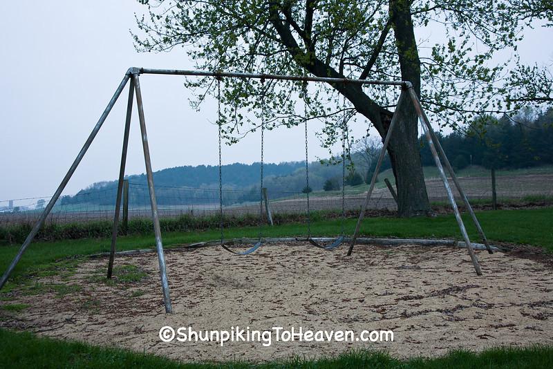 Swingset at Old Halfway Prairie School, Dane County, Wisconsin