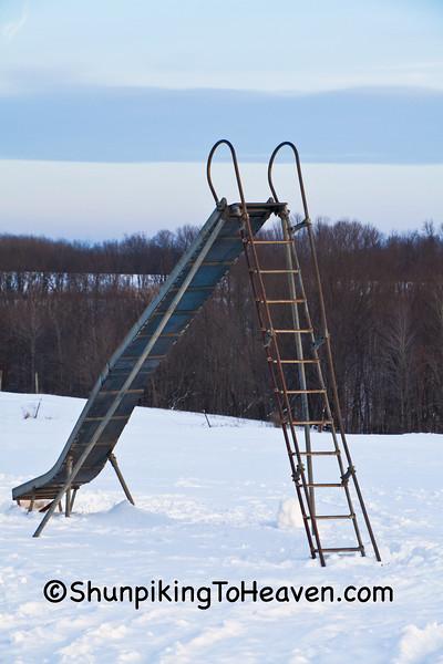 Slide at Amish School, Vernon County, Wisconsin
