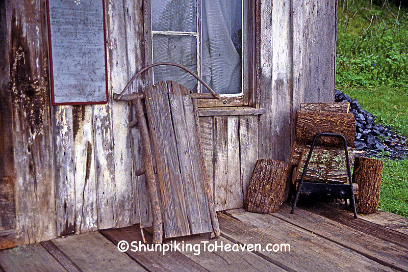Old Sled on Porch of Penn's Store, Gravel Switch, Casey County, Kentucky