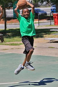 Playing Basketball, July 20, 2018