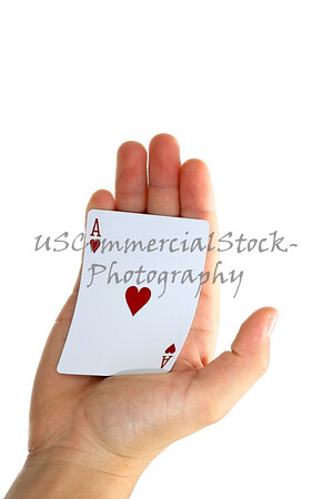 Ace of Hearts in palm