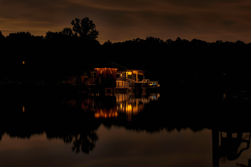 Neighbors Dock at Night