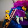 Playmobil brushing My Pet Monster's teeth