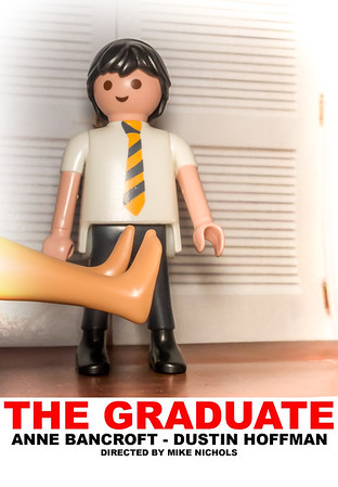 "Playmobil ""The Graduate"" starring Anne Bancroft and Dustin Hoffman."