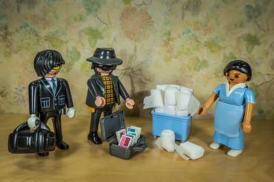 COVID-19 Blackmarket Toilet Paper 2020. Playmobil.