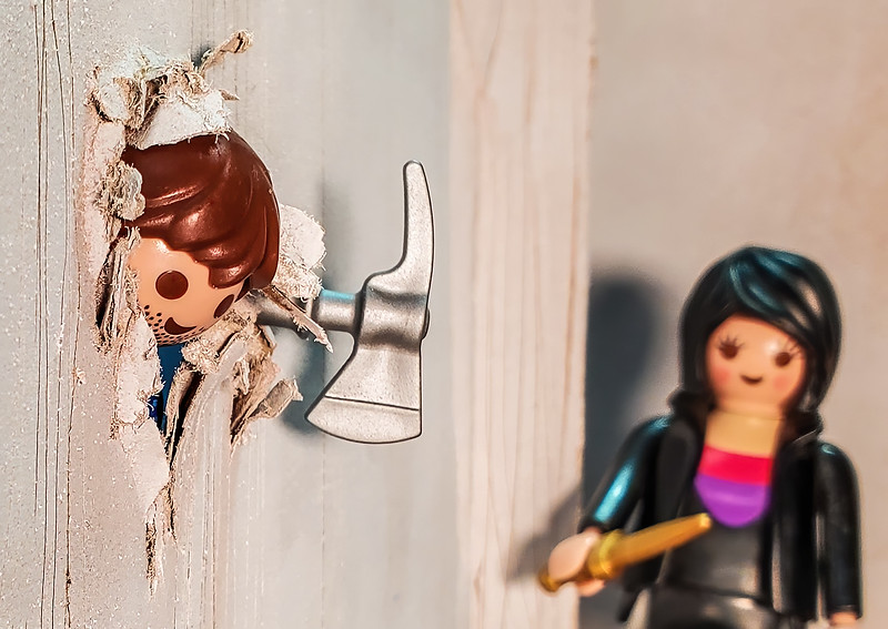 """Playmobil The Shining. """"Here's Johnny"""""""