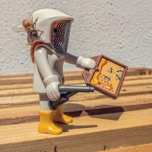 Playmobil beekeeper and hive. Tucson Arizona