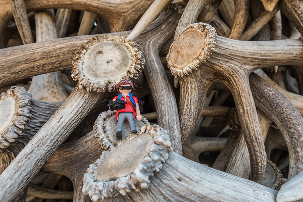 Playmobil photographer. Jackson Hole, Wyoming