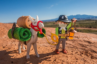 Playmobil Miner and Donkey. Wind Whistle Rock, Utah