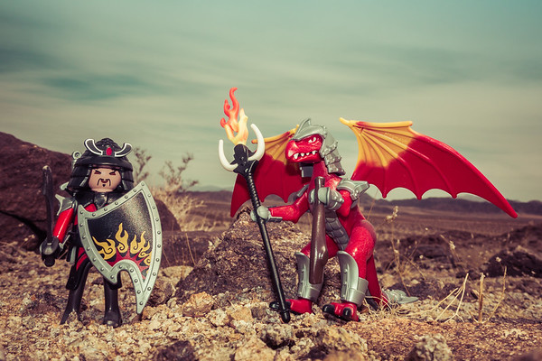Playmobil Dragons. Pinto Mountains, Riverside Co. California USA