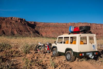 Playmobil Mini-us adventurers.  Vermillion Cliffs National Monument, Coconino Co., Arizona USA