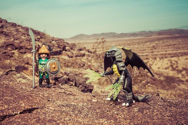 Playmobil Dragons. Pinto Mountains, Riverside Co. California USA