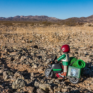 Playmobil explorers. Pinto Mountains, Riverside Co. California USA