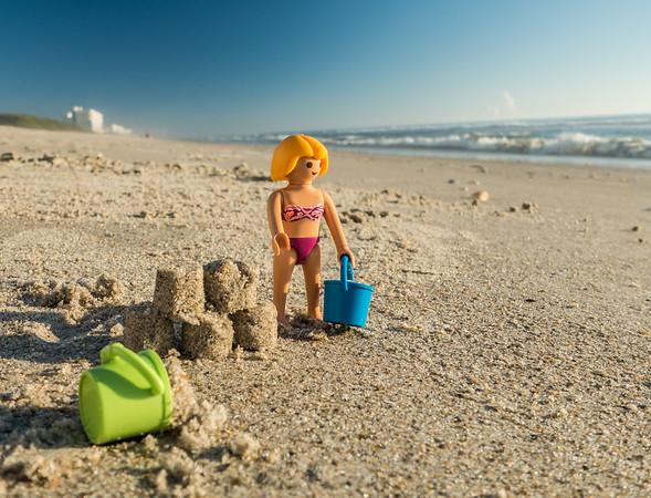 Playmobil beach fun. Melborne Beach, India Atlantic, Florida USA