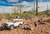 Mini-me Margy, H-W &  Jaypeg and teh Margy mobile. Silverbell mountains, Pinal Co. Arizona