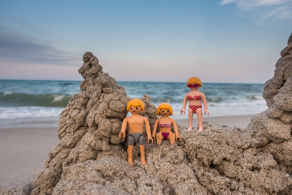Playmobil sand mountain beach fun. Melborne Beach, India Atlantic, Florida USA