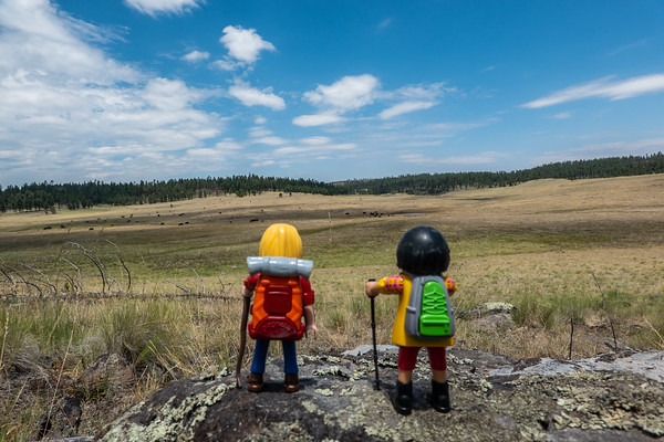 Playmobil camping trip. Apache National Forest, Arizona USA