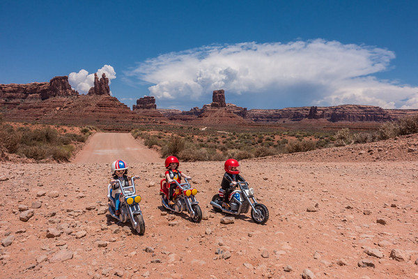 Playmobil Easy Rider. Valley of the Gods, San Juan Co., Utah USA