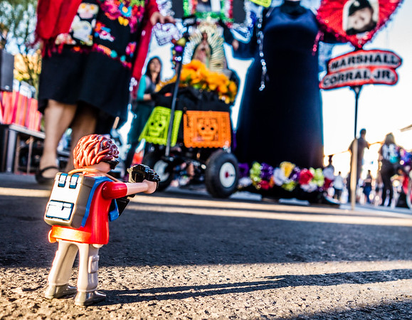 Playmobil. 25th All Souls Procession, 9Nov2014. Tucson, Arizona USA