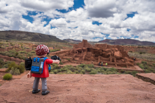 Playmobil photographer, Wupatki Ruins National Monument, Arizona