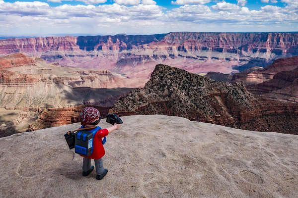 Playmobil photographer. Grand Canyon North Rim, Arizona