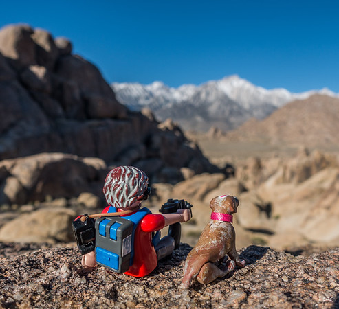 Playmobil Mini Me, Alabama Hills, Inyo Co. California USA