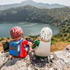 Mini-me Margy & Hans-Werner Playmobils. Mount Manengouba, Littoral Region, Cameroon Africa