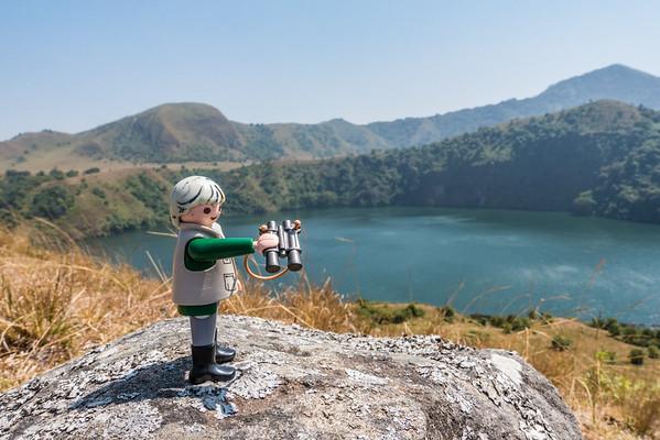Mini-me Hans-Werner Playmobil. Mount Manengouba, Littoral Region, Cameroon Africa